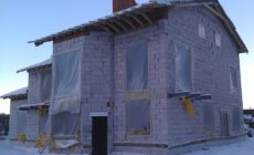 Консервация стройки дома на зиму