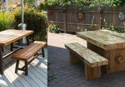 Модели дачных столов с чертежами и фото